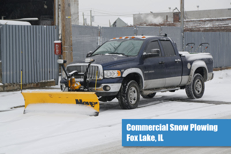 Commercial Snow Plowing in Fox Lake, IL