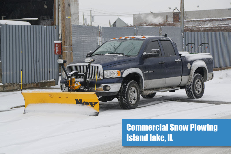 Commercial Snow Plowing in Island Lake, IL