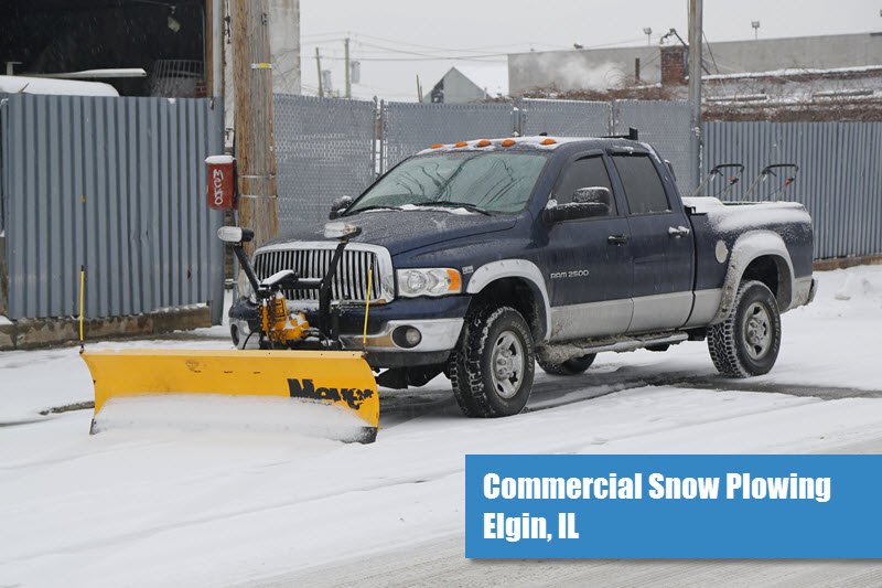 Commercial Snow Plowing in Elgin, IL
