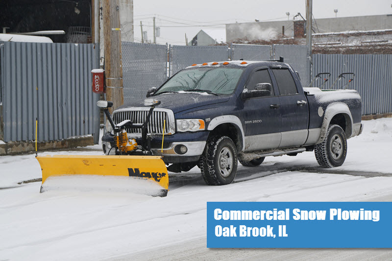Commercial Snow Plowing in Oak Brook, IL